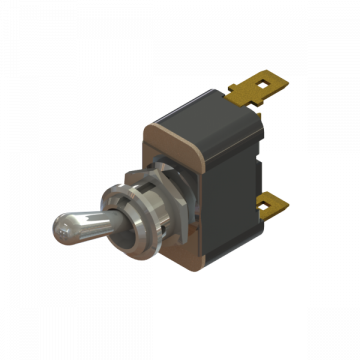 PART-381 SW TOGGLE, SPST, 15A, OFF-(ON)