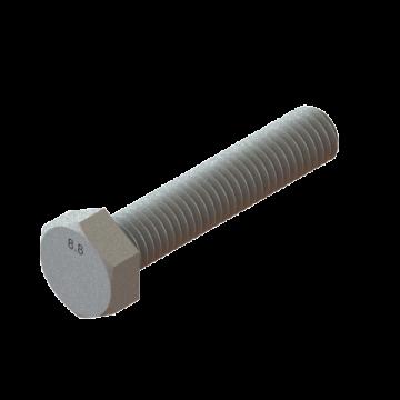 SCREW M8X1.25X40 HEX CAP ZINC