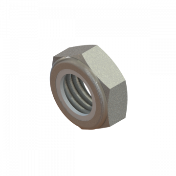 NUT 5/8-11 HEX THIN NYLON LOCK ZINC