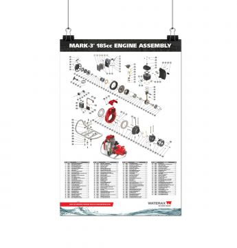 POSTER MARK-3® 185CC ENGINE ASSEMBLY