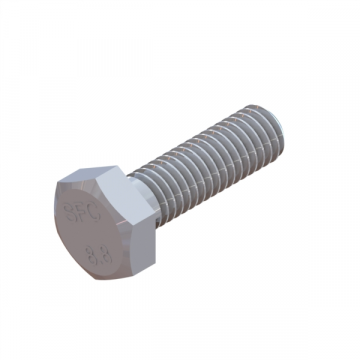 RA-108 SCREW M8X1.25X25 HEX CAP ZINC
