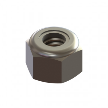 C-6650-14 NUT 1/4-20 FLANGED DISTORTED LOCKNUT