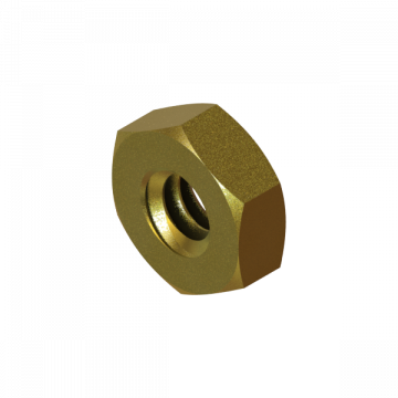B-2428-19 NUT #6-32 HEX BRASS