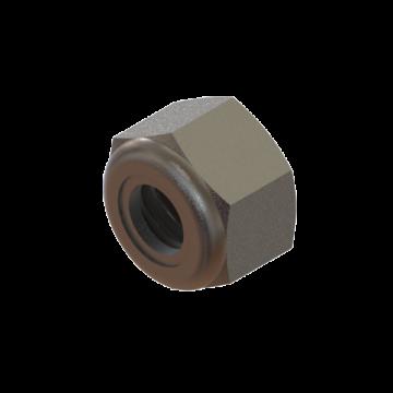 FAST-358 NUT 1/4-20 HEX NYLON LOCK ZINC