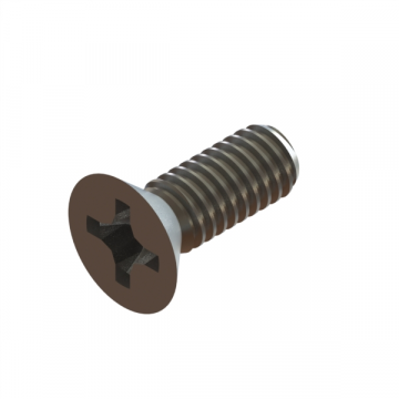 12-25 SCREW #8-32X7/16 PHILLIPS FLAT NYLON LOCK SS