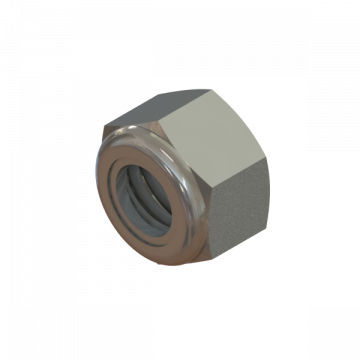 NUT 5/16-18 HEX NYLON LOCK ZINC