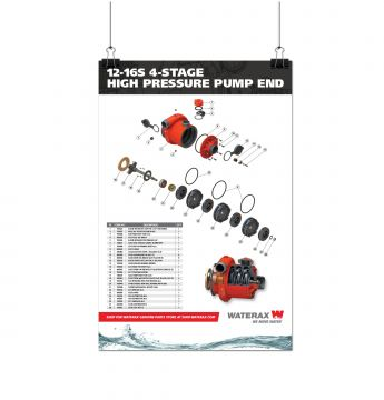 POSTER 12-16S 4-STAGE HIGH-PRESSURE PUMP-END